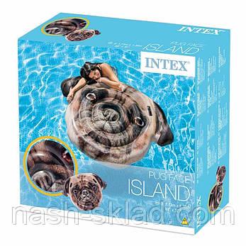 Матрас надувной Мопс, плотик для плаванья, подарок для детей, фото 2