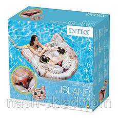 Матрас надувной Котик, плотик для плаванья, подарок для девушки, фото 3