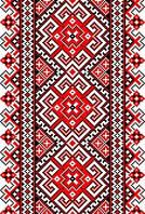 Виниловая наклейка универсальная L Красная вышиванка