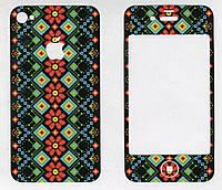 Виниловая наклейка для iPhone 4/4s Маки + заставка