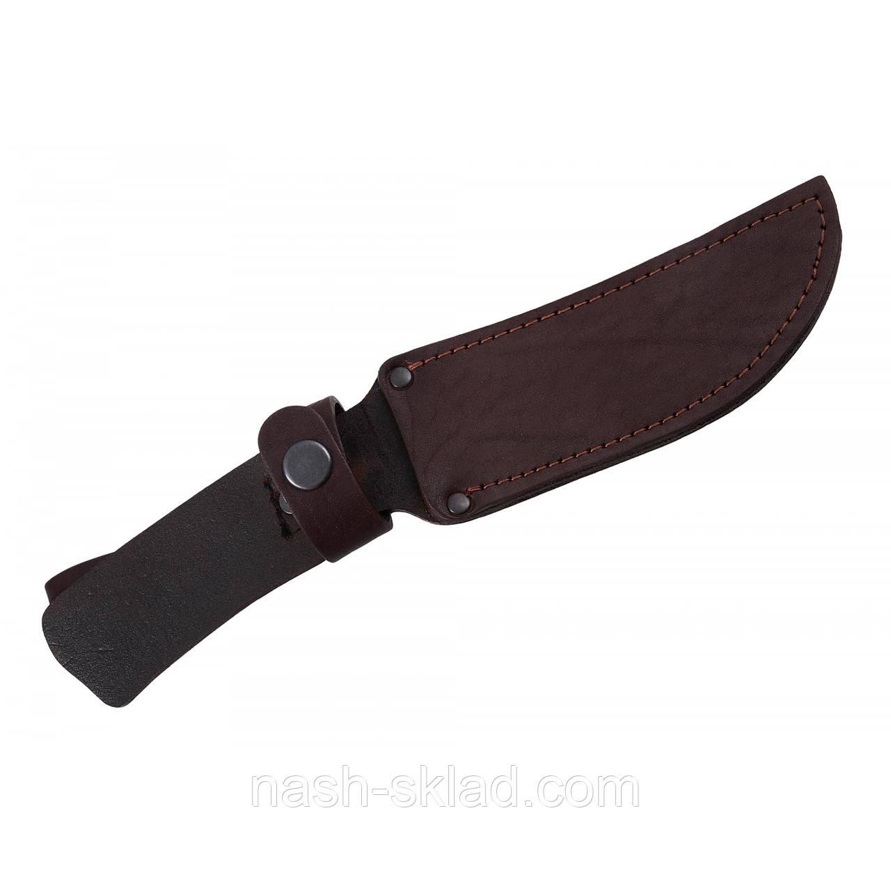 Кожаный чехол универсальный для нескладного охотничьего ножа