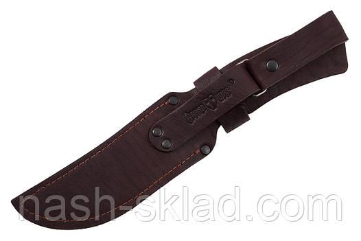 Кожаный чехол универсальный для нескладного охотничьего ножа, фото 2