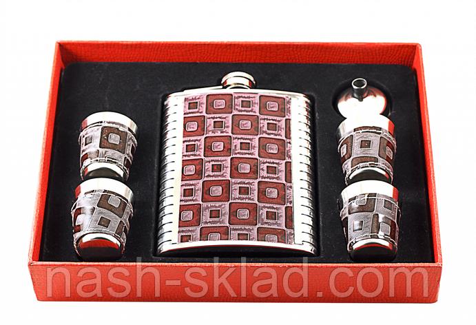 Фляга в подарок, 4 рюмки, элитная , фото 2