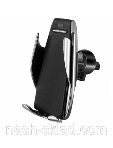 Автомобильный держатель для телефона c беспроводной зарядкой, фото 2