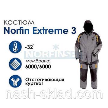 Зимний костюм NORFIN EXTREME 3 размер S, фото 2