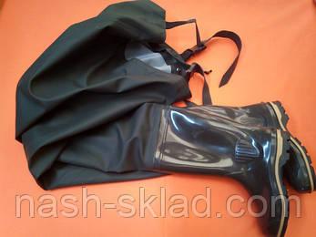 Рыбацкий полукомбинезон  ПСКОВ черного цвета, оригинал, выполнен из качественного ПВХ, фото 2