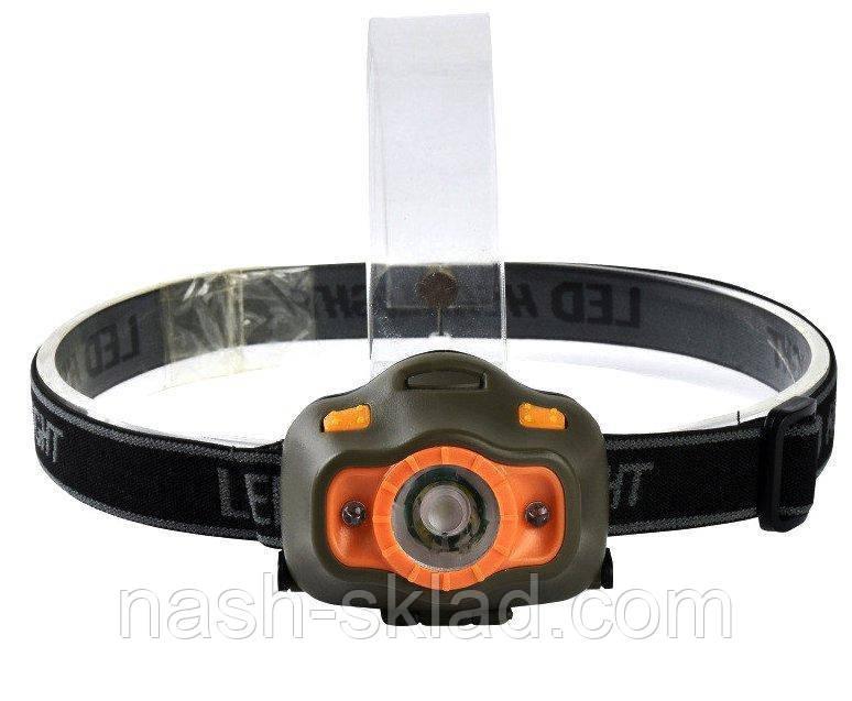 Налобный фонарь с датчиком движения 6603 XPE