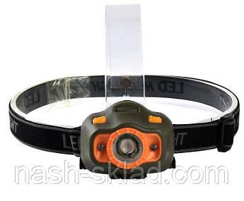 Налобный фонарь с датчиком движения 6603 XPE, фото 2