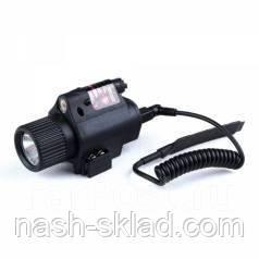 Подствольный фонарик с лазером+ выносная кнопка , фото 2