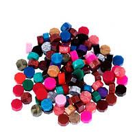 Воск для сургучной печати, сургуч таблетка 8.5х5мм, разноцветный, 50г