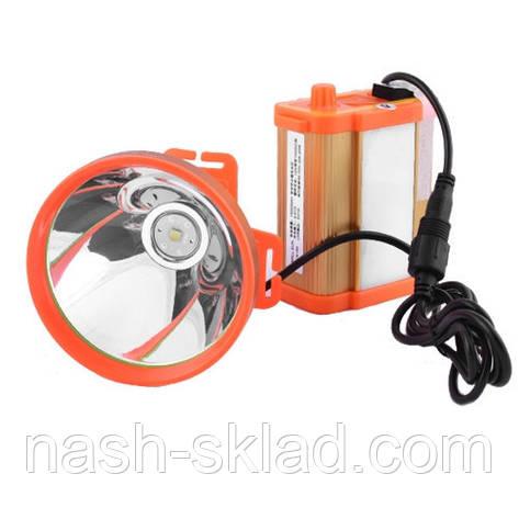 Фонарь налобный Small Sun шахтерский, 24SMD (8 Ah), со встроенным аккумулятором ЗУ 220V, фото 2