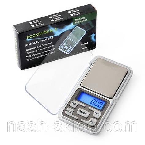 Ювелірні ваги Pocket Scale, max вага 100 г (похибка 0,1 г), фото 2