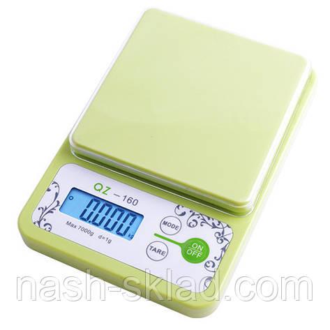 Весы кухонные плоские на 10 кг (погрешность 1 г), фото 2