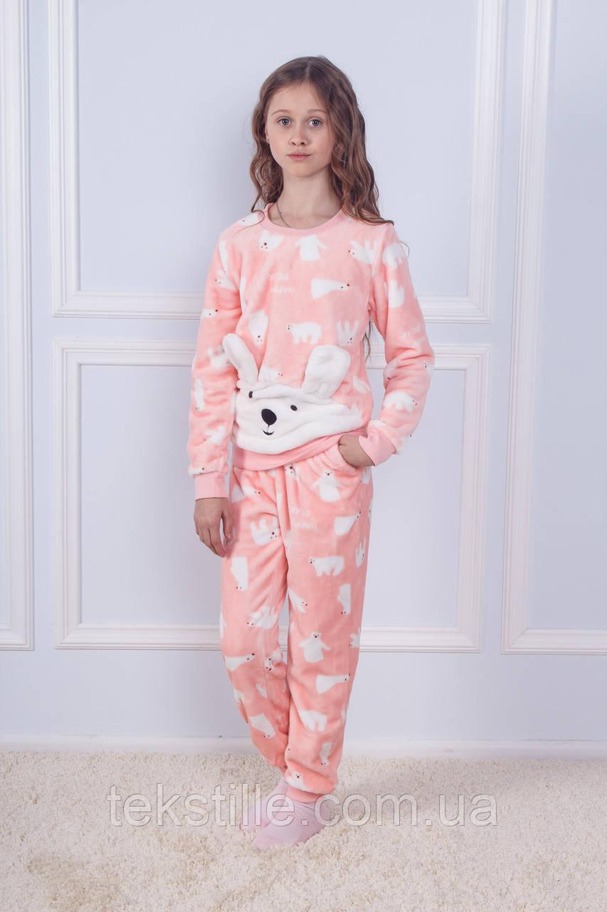 Пижама детская махровая Белый Мишка Sofi Soft 12 лет