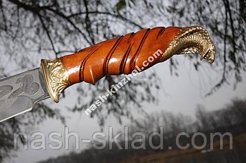 Ніж мисливський Кобра, ручна робота, шкіряний чохол в комплекті, фото 2