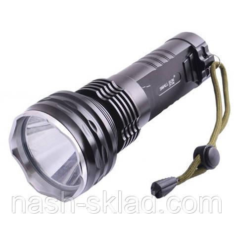 Супер мощный фонарь на два аккумулятора, кристал Т6, + зарядное устройство, фото 2