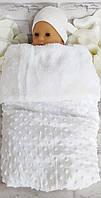 Покрывало в коляску 70*95 см. плед в кроватку меховое