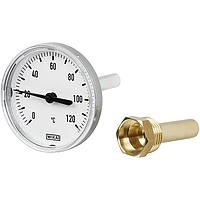 Термометр биметаллический аксиальный для систем отопления WIKA