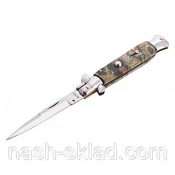 Выкидной нож камуфляжного стиля, лучший напарник любителям активного отдыха, туризма, рыбалки, охоты., фото 2