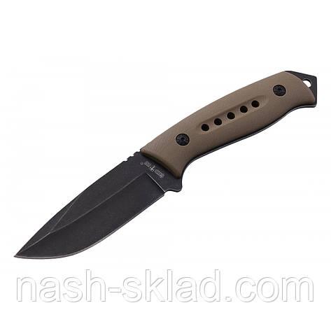Нож тактический нескладной, цельнометаллической конструкции, надежная гарантия качества, фото 2