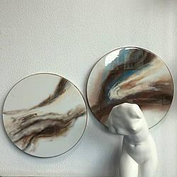 Картина эпоксидной смолой круглая