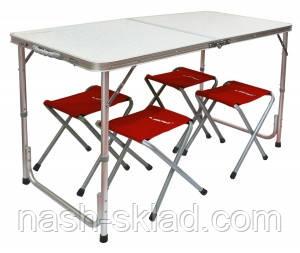 Туристический стол + 4 стула, складные стулья, подарок для туриста, фото 2