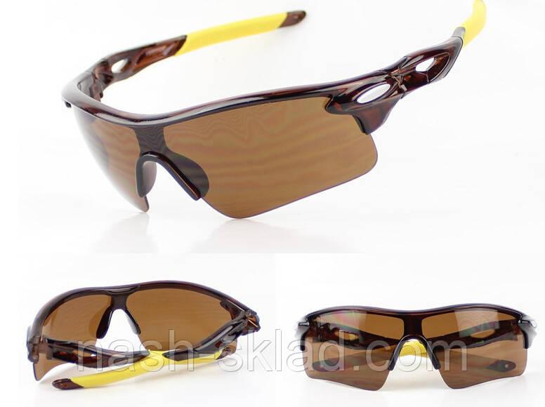 👓 Мужские спортивные очки ,  коричневая линза