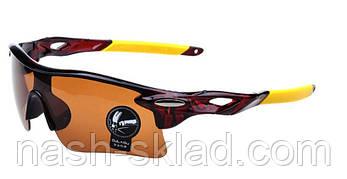 👓 Мужские спортивные очки ,  коричневая линза, фото 2