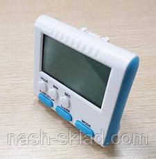 Цифровой кухонный таймер   3 в 1 Aihogard  голубые кнопки, фото 3