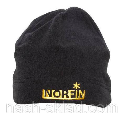 Шапка флисовая Norfin Fleece Black, фото 2
