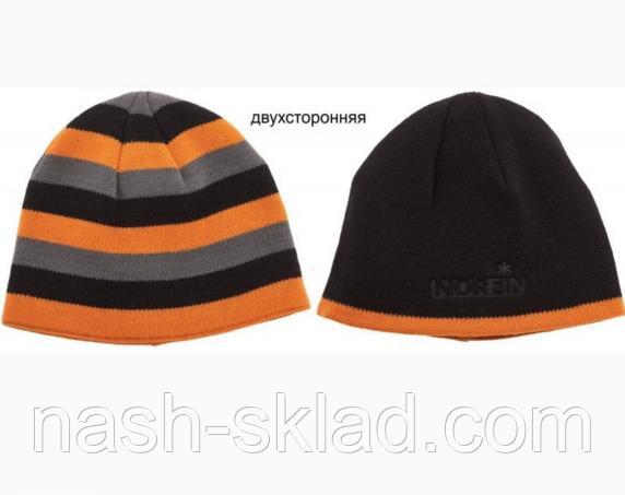 Двухсторонняя зимняя шапка Norfin Discovery Gray. Очень теплая зимняя шапка