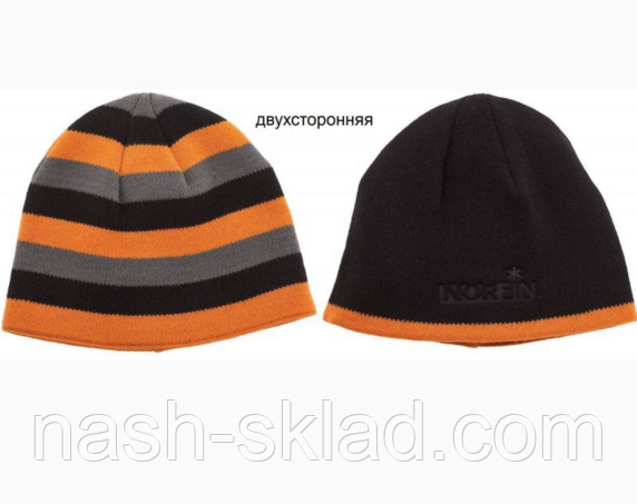 Двухсторонняя зимняя шапка Norfin Discovery Gray. Очень теплая зимняя шапка, фото 2