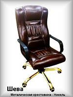 Кресло руководителя - Sheva с никелированной крестовиной