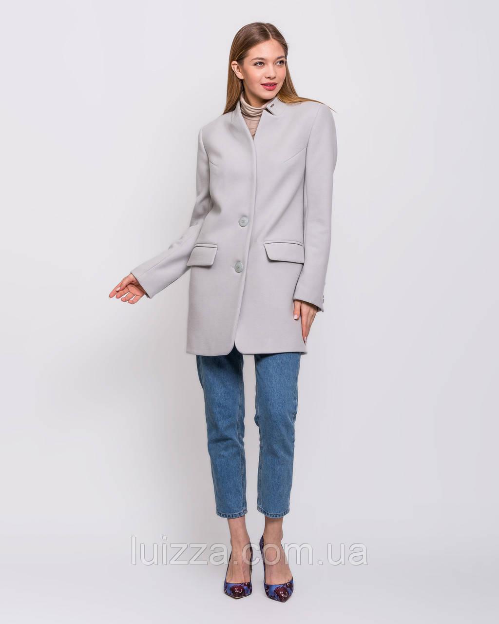 Пальто пиджак  40 42 44 46 48 р светло- серый