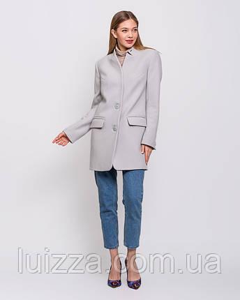 Пальто пиджак  40 42 44 46 48 р светло- серый, фото 2