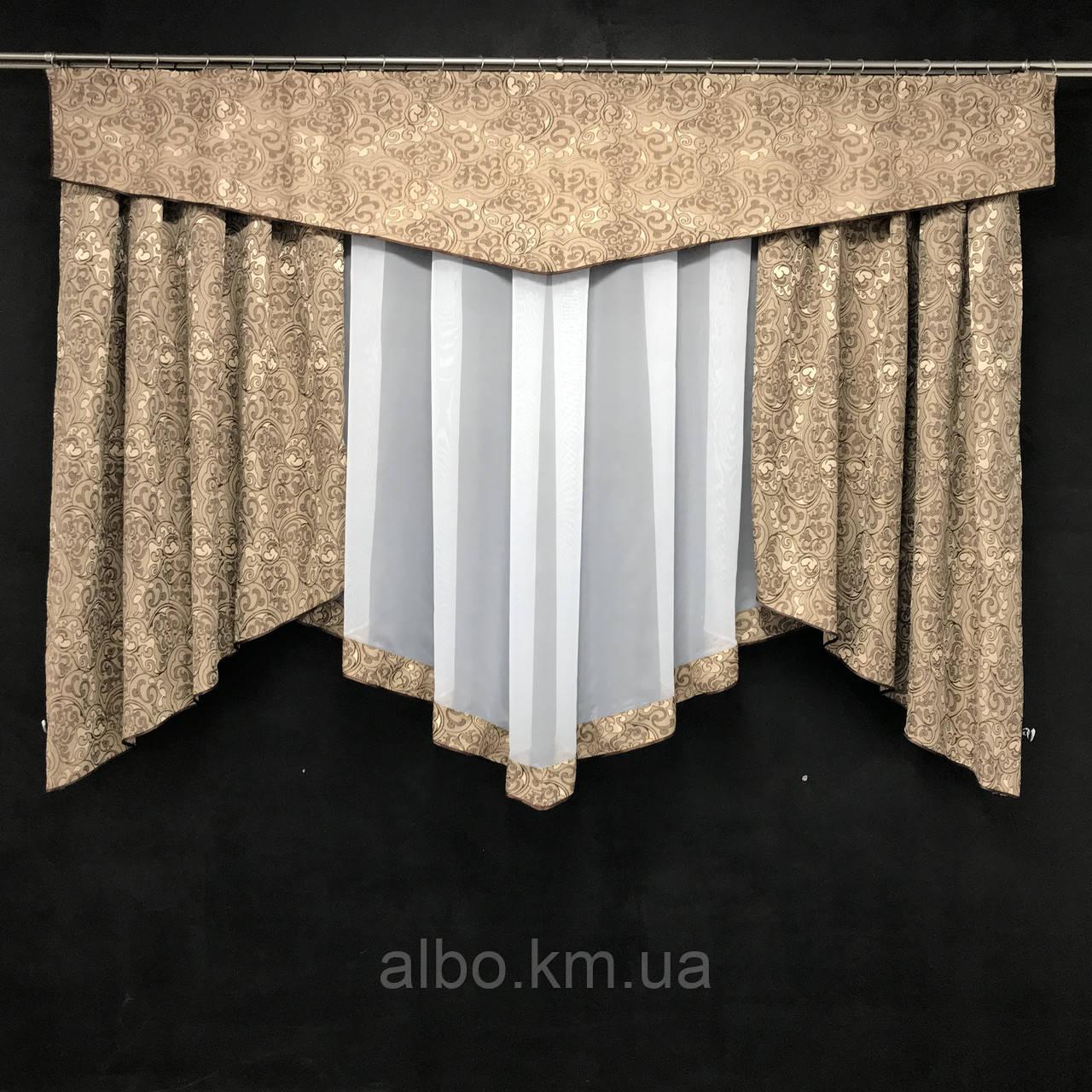 Занавески на окна в спальню кухню короткие, занавески с ламбрекенами для зала спальни кухни, комбинированные
