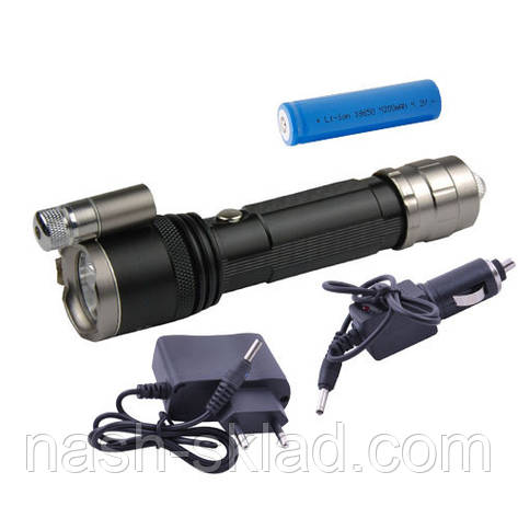 Фонарь Police 9847-XPE износоустойчивый, водонепроницаемый, возможность заряжать автомобильной зарядкой, фото 2