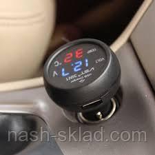 Вольтметр термометр цифровой автомобильный VST 706-1