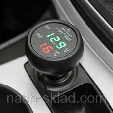 Вольтметр термометр цифровой автомобильный VST 706-1, фото 2
