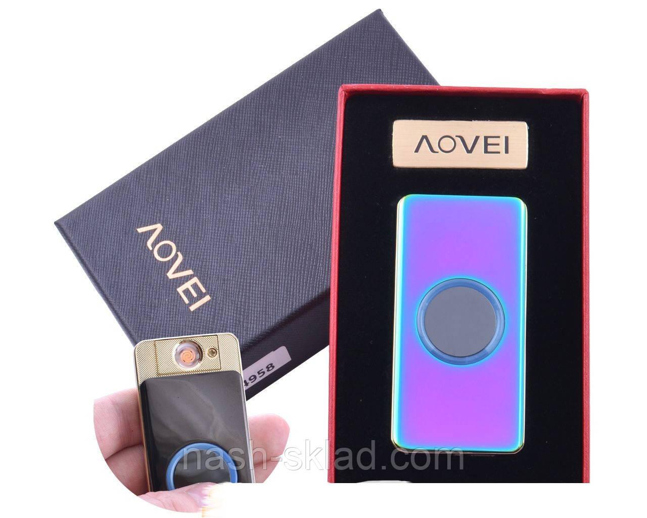"""USB зажигалка в подарочной упаковке """"/\OVEI"""" (Cпираль накаливания)"""