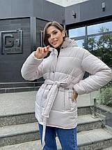 Женская куртка из красивой плащевой ткани под пояс  LL-066, фото 2