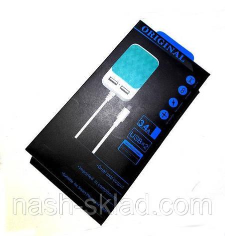 Зарядное устройство Original 3.4A USBx2, фото 2