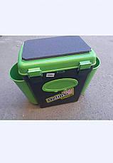 Ящик односекционный Fish Box Helios 10 л для зимней рыбалки зеленого/оранжевого цвета, фото 3