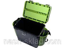Ящик Fish Box Helios 19 л для зимней рыбалки Зеленый, фото 3