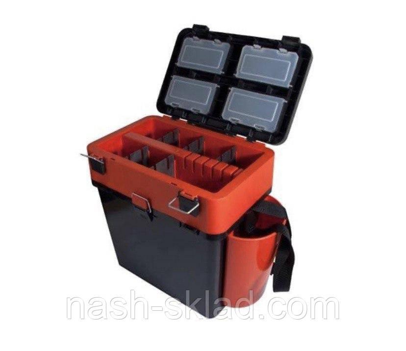 Ящик Fish Box Helios 19 л для зимней рыбалки Orange