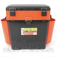 Ящик Fish Box Helios 19 л для зимней рыбалки Orange, фото 2