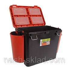Ящик Fish Box Helios 19 л для зимней рыбалки Orange, фото 3