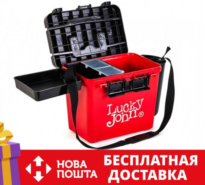 Ящик рыболовный зимний Lucky John (из 6-ти частей) 38x26x31.5 см