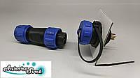 Разъем соединитель кабеля герметичный ip68 встраиваемый в корпус md 13 4-х контактный., фото 1