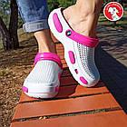 Кроксы из пены ЭВА, р 36, 37, 38, 39, 40 Белые с розовым сабо женские или для девочки., фото 7